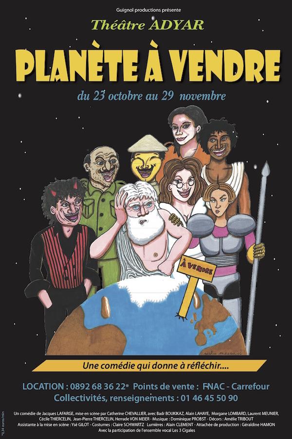 affiche de planète à vendre